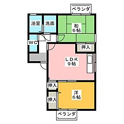ロイヤルKII[1階]の間取り