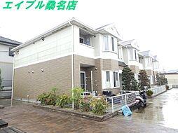三重県桑名市長島町福吉の賃貸アパートの外観