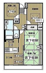 東戸塚駅徒歩10分 ルネス・グランベルク404号室[4階]の間取り