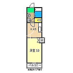 コーポIOROI[1階]の間取り