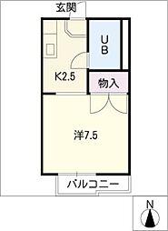 タウニーエリート A棟[1階]の間取り