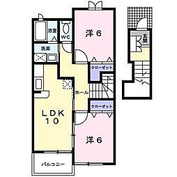 ディアコート・タカラ[2階]の間取り