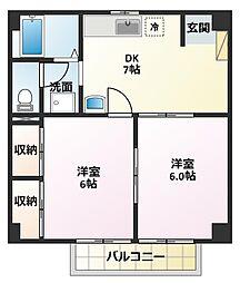 ハイムマコトA[2階]の間取り