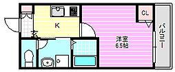 フィオレンテ栄町[2階]の間取り
