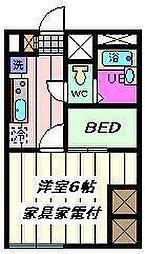 埼玉県さいたま市桜区下大久保の賃貸アパートの間取り