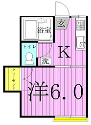 ビルトモア[1-102号室]の間取り