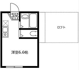 神奈川県川崎市幸区中幸町2丁目の賃貸アパートの間取り