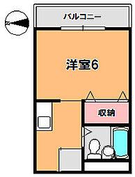 グローリー新大宮[2階]の間取り