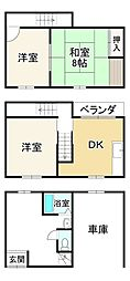 Osaka Metro谷町線 喜連瓜破駅 徒歩10分 3DKの間取り