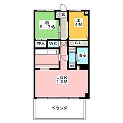 法城ビル[2階]の間取り