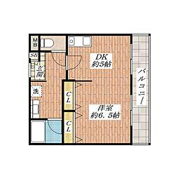 エムズコート[3階]の間取り