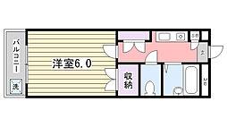 ジュネパレス津田沼第26[203号室]の間取り
