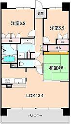 プラウド豊中南桜塚[306号室]の間取り