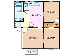 クレストビラ B棟[2階]の間取り
