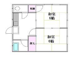松島荘[2階]の間取り