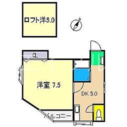 八反町ウイング[4階]の間取り