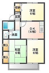エクレール五井西 A[1階]の間取り