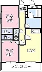 神奈川県横浜市瀬谷区五貫目町の賃貸マンションの間取り