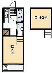 コンフォート岡[203号室]の間取り