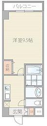 セブンレジデンス日本橋 9階1Kの間取り