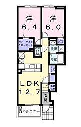 hill maison HT II[1階]の間取り