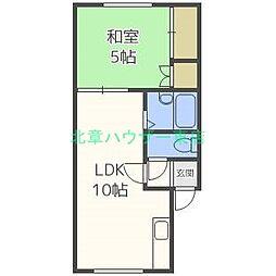 北海道札幌市東区北二十条東1丁目の賃貸アパートの間取り