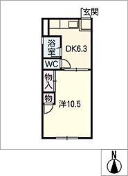 コーポ ハヤシ[1階]の間取り
