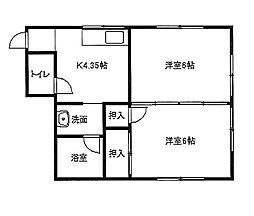 東京都墨田区向島4丁目の賃貸マンションの間取り