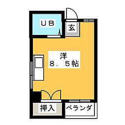 さくらニューコーポ[4階]の間取り