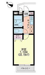 コーポ・コスモスII[1階]の間取り