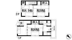 [テラスハウス] 兵庫県伊丹市瑞穂町2丁目 の賃貸【/】の間取り
