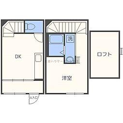 Wood MaisonN18[1階]の間取り