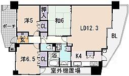 藤和八尾駅前ホームズ[701号室]の間取り