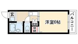 愛知県名古屋市昭和区戸田町3丁目の賃貸アパートの間取り