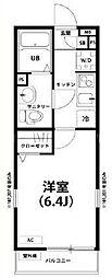 神奈川県横浜市南区大橋町2丁目の賃貸アパートの間取り