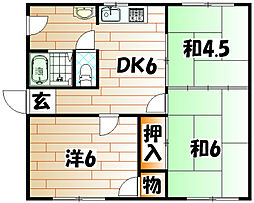 ハタノコーポ[2階]の間取り