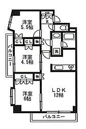 レジディア文京音羽[7階]の間取り