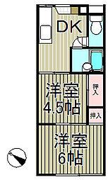 長沼熊谷ハイツ[102号室]の間取り