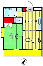 ジュネパレス松戸第16[2階]の間取り