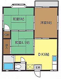 神奈川県茅ヶ崎市東海岸北5丁目の賃貸アパートの間取り