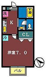 シャングリラ[207号室]の間取り