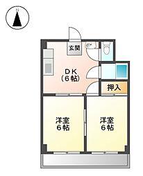 第3岬ビル[3階]の間取り