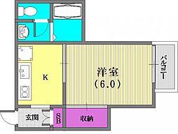 大倉山ハイツC棟[1階]の間取り