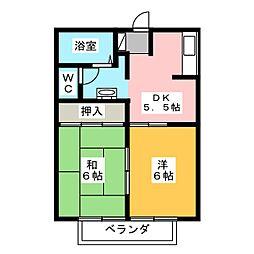 ローラン平塚[2階]の間取り