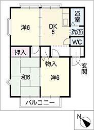 MEMORIAL KAMIYAA棟[2階]の間取り