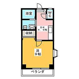 ボヌール鈴木[3階]の間取り