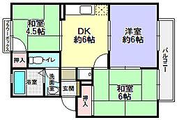 平尾ハイツ[2階]の間取り