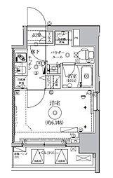 東京都品川区東中延1丁目の賃貸マンションの間取り
