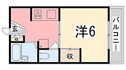 レジデンス香呂[102号室]の間取り