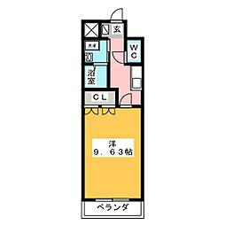 M・プロニティ[2階]の間取り